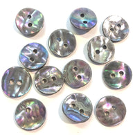 "Dancing Platinum Shell 1/2"" Buttons, Pack of 12   #23-SP-620"