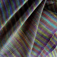 Plum Stripe Rustic Cotton Woven, by the yard  #CHL-132