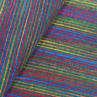 Plum Stripe Rainbow Ikat Cotton, by the yard #IND005