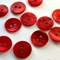"Red Agoya Shell 5/8"" 2-hole Button, Pack of 8 for $7.20"