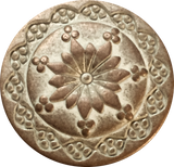 "Copper/White Seventh Flower Button 3/4"" #SWC-21"