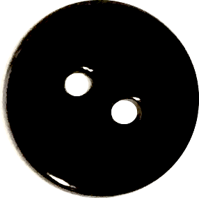 "Black 3/4"" Shiny Agoya Shell Button, $1.40 each,  #1225"
