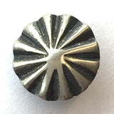 "Tiny STERLING Silver 1/2"" Repousse Concho Button, SW-54"