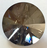 Small Swarovski Button, Crystal Satin Graphite 10mm /.4""