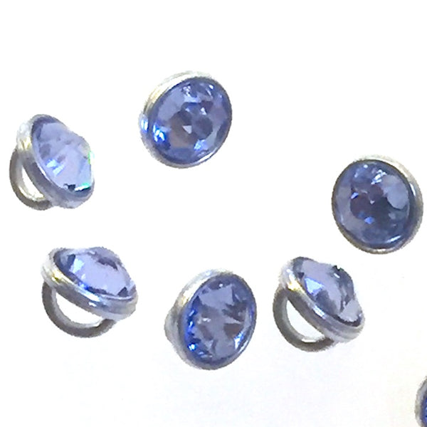 "Tiny Swarovski Buttons, Lavender Crystal 3/16""   5mm"