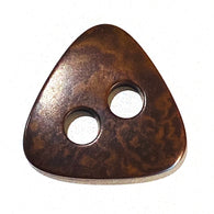 "Brown Triangle Button Corozo/Tagua 7/8"" Item #432"