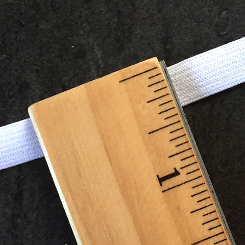 "3/8"" Plain White Elastic from Japan, Roll of 33 yards. Item #1038/10mm."