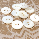 "White River Pearl Shell 5/8"" 2-hole Button, Pack of 8 for $7.50  #23-126"
