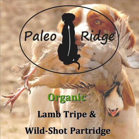 Paleo Ridge WILD PARTRIDGE & LAMB TRIPE COMPLETE 1kg, Raw Dog Food, Pet Parlour Raw, Pet Parlour Terenure - The Pet Parlour Terenure Dublin