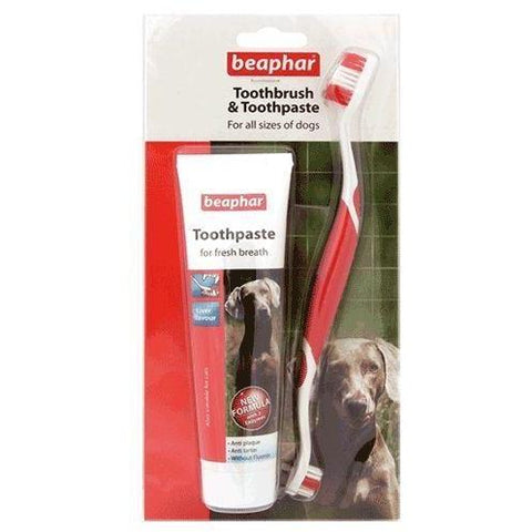 Beaphar Toothbrush and Toothpaste Kit, Dog Hygiene, Beaphar, Pet Parlour Terenure - The Pet Parlour Terenure Dublin