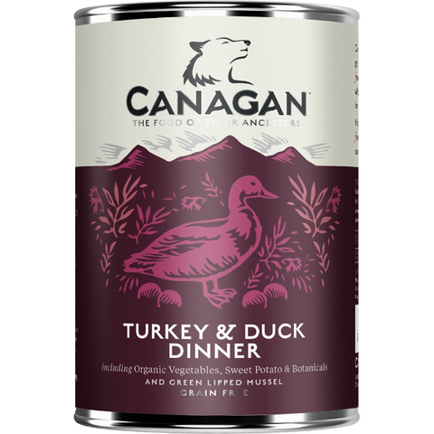 Canagan Turkey & Duck Dinner Can 400g, Wet Dog Food, Canagan, The Pet Parlour Terenure - The Pet Parlour Terenure Dublin