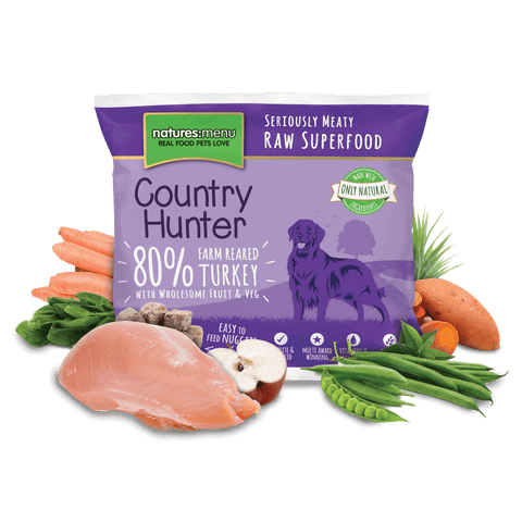 Country Hunter Raw Turkey Nuggets 1kg, Raw Dog Food, Natures Menu, Pet Parlour Terenure - The Pet Parlour Terenure Dublin