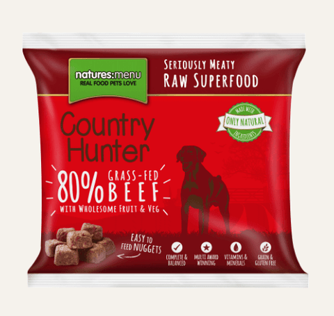 Country Hunter Raw Beef Nuggets 1kg, Raw Dog Food, Natures Menu, The Pet Parlour Terenure - The Pet Parlour Terenure Dublin