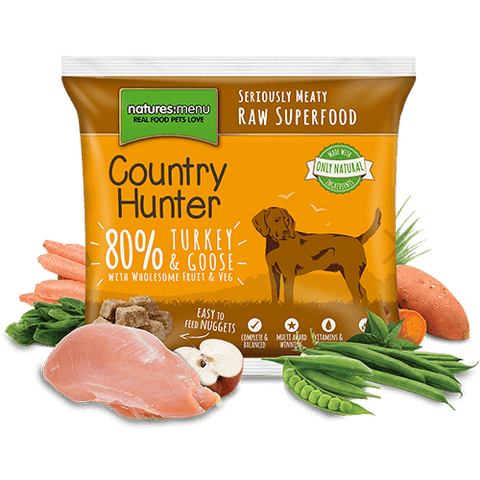 Country Hunter Raw Turkey & Goose Nuggets 1kg, Raw Dog Food, Natures Menu, Pet Parlour Terenure - The Pet Parlour Terenure Dublin