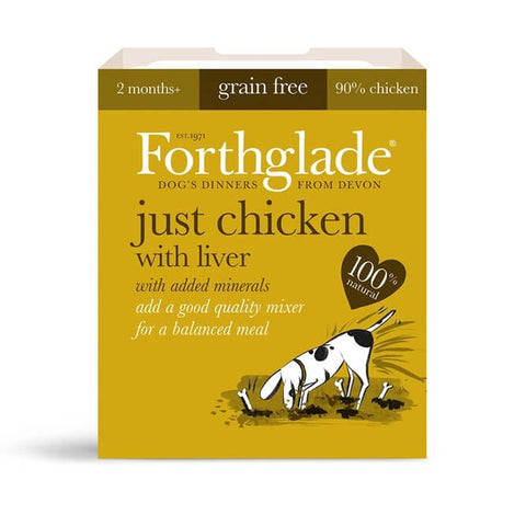 Forthglade Just 90% Chicken With Liver Natural Wet Dog Food, Wet Dog Food, Forthglade, Pet Parlour Terenure - The Pet Parlour Terenure Dublin