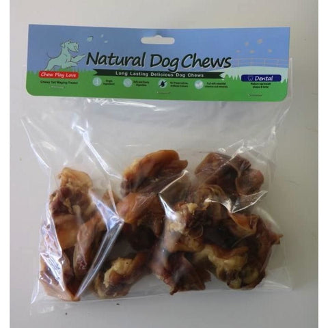 Natural Dog Chews Raw Pig Ear Shells