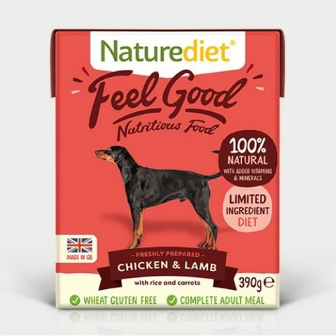 Naturediet Feel Good Chicken & Lamb, Wet Dog Food, Naturediet, The Pet Parlour Terenure - The Pet Parlour Terenure Dublin