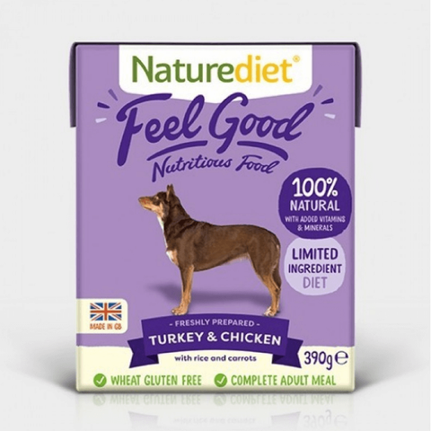 Naturediet Feel Good Turkey & Chicken, Wet Dog Food, Naturediet, The Pet Parlour Terenure - The Pet Parlour Terenure Dublin