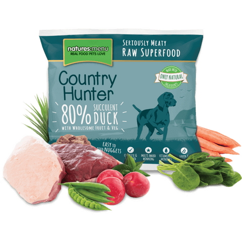 Country Hunter Raw Duck & Plum Nuggets 1kg, Raw Dog Food, Natures Menu, The Pet Parlour Terenure - The Pet Parlour Terenure Dublin