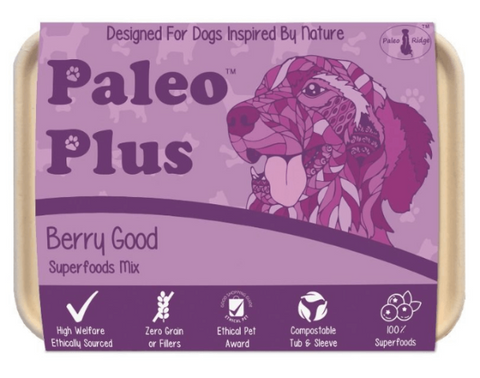 Paleo Ridge Plus Berry Good Raw Dog Food Superfood Supplement The Pet Parlour Terenure Dublin Free Delivery