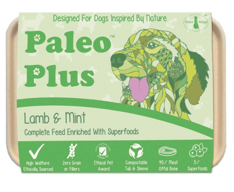 Paleo Plus - Lamb & Mint 500g, Raw Dog Food, Paleo Ridge, The Pet Parlour Terenure - The Pet Parlour Terenure Dublin