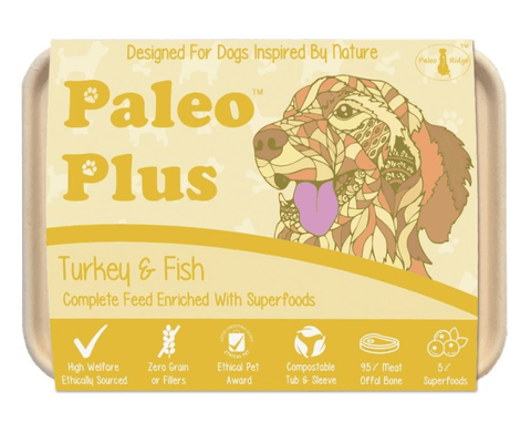 Paleo Plus - Turkey & Fish 500g, Raw Dog Food, Paleo Ridge, The Pet Parlour Terenure - The Pet Parlour Terenure Dublin