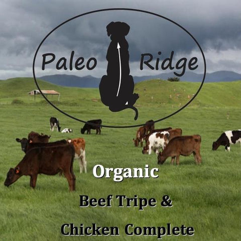 BEEF TRIPE & ORGANIC CHICKEN COMPLETE 1kg, Raw Dog Food, Paleo Ridge, Pet Parlour Terenure - The Pet Parlour Terenure Dublin