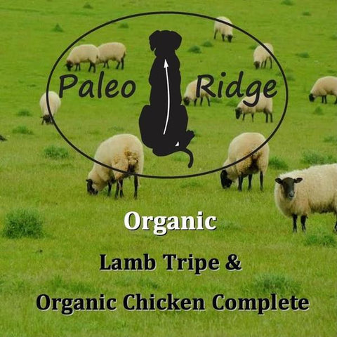 LAMB TRIPE & ORGANIC CHICKEN COMPLETE 1kg, Raw Dog Food, Paleo Ridge, Pet Parlour Terenure - The Pet Parlour Terenure Dublin