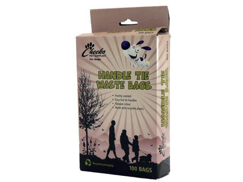 Cheeko Poop Waste Bag Tie Handles X 100