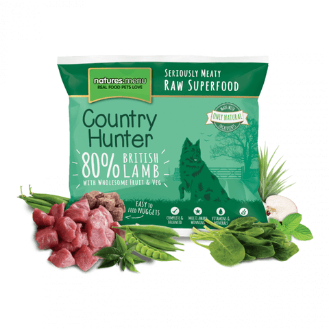 Country Hunter British Lamb Nuggets 1kg, Raw Dog Food, Natures Menu, Pet Parlour Terenure - The Pet Parlour Terenure Dublin