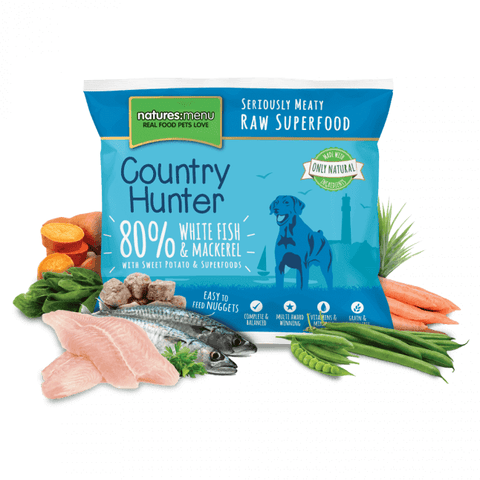 Country Hunter White Fish & Mackerel Nuggets 1kg, Raw Dog Food, Natures Menu, Pet Parlour Terenure - The Pet Parlour Terenure Dublin