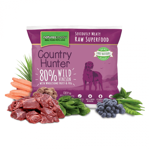 Country Hunter Wild Venison Nuggets 1kg, Raw Dog Food, Natures Menu, Pet Parlour Terenure - The Pet Parlour Terenure Dublin