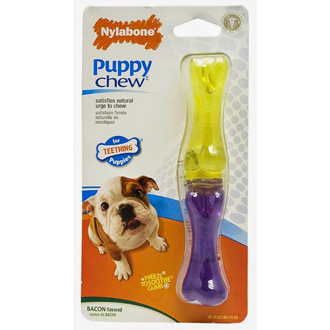 Nylabone Puppy Chew Teething Toy Bacon Flavored