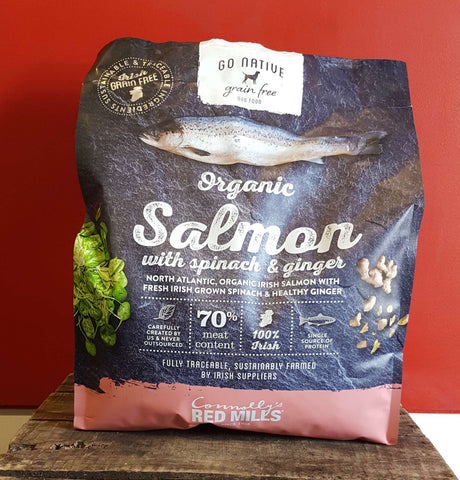 Go Native Organic Salmon with Spinach & Ginger