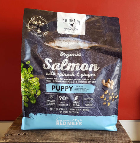 Go Native Puppy - Organic Salmon with Spinach & Ginger, Dry Dog Food, Red Mills, Pet Parlour Terenure - The Pet Parlour Terenure Dublin