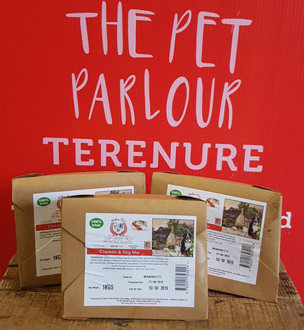 Willow Run Chicken & Veg Complete 1kg, Raw Dog Food, Willow Run Raw, Pet Parlour Terenure - The Pet Parlour Terenure Dublin