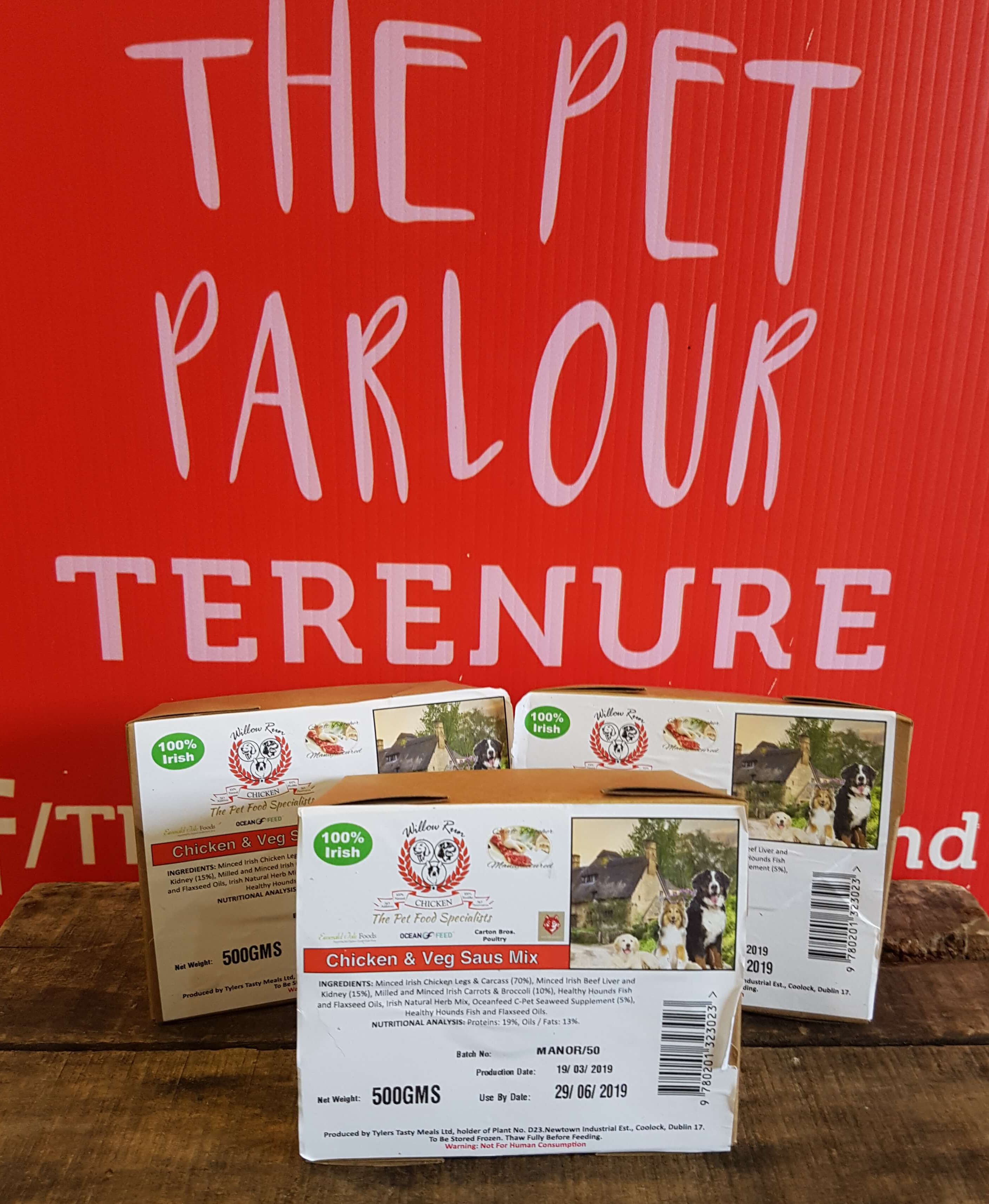 Approved Raw Chicken & Veg Sausages 500g, Raw Dog Food, Approved Raw, The Pet Parlour Terenure - The Pet Parlour Terenure Dublin