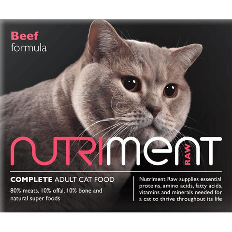 Nutriment Cat Beef 500g, Raw Cat Food, Nutriment, Pet Parlour Terenure - The Pet Parlour Terenure Dublin