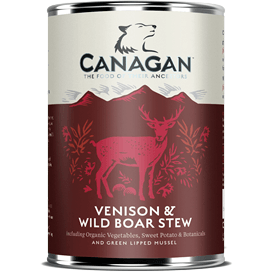 Canagan Venison & Wild Boar Stew Can 400g, Wet Dog Food, Canagan, Pet Parlour Terenure - The Pet Parlour Terenure Dublin