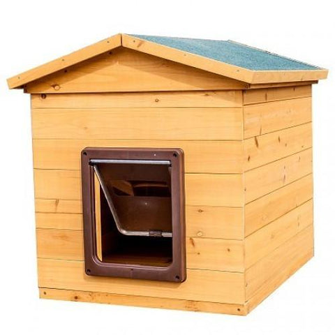 Wooden Kennel With Flap