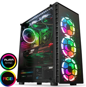 Raider Gaming PC - AMD Ryzen 3100 - NVIDIA GTX 1050 Ti 4GB GPU - 16GB RAM - 240GB SSD