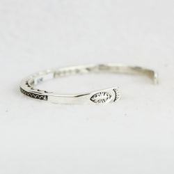 Sterling Silver Stamped Guard Bracelet