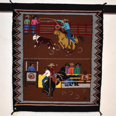 """Window Rock Rodeo"" Pictorial Rug"