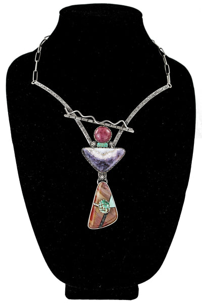 Multi-Stone Pendant Necklace by Vernon Begaye