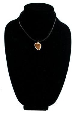 Brown Onyx Heart Necklace