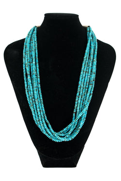7-Strand Kingman Turquoise Beads by Kenneth Aguilar