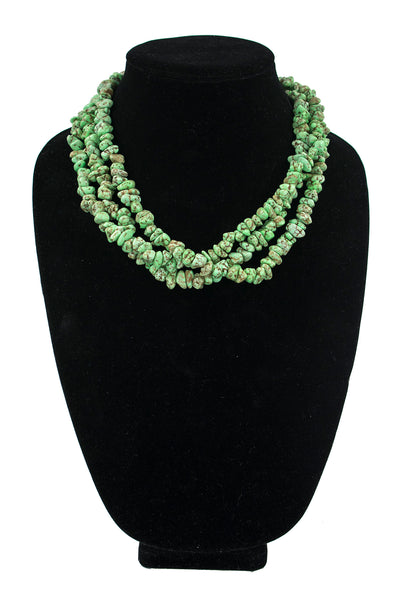 3-Strand Gaspeite Necklace by Corbert Joe