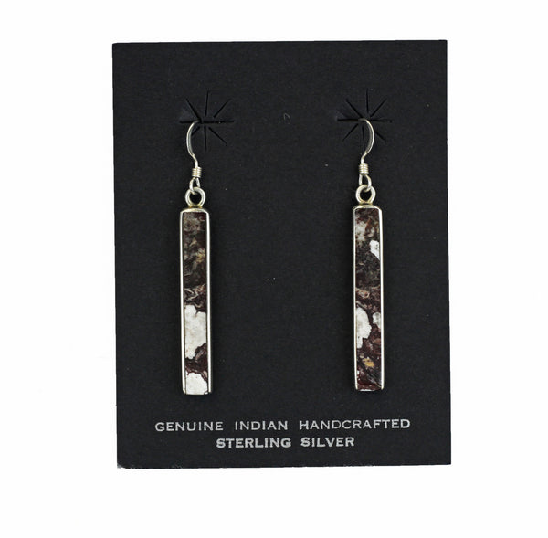 Long Stone Rectangle Drop Earrings