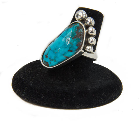 Turquoise Foot Ring by Jerry Begay