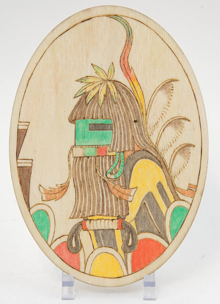 Longhair Katsina Plaque by Ted Pavatea